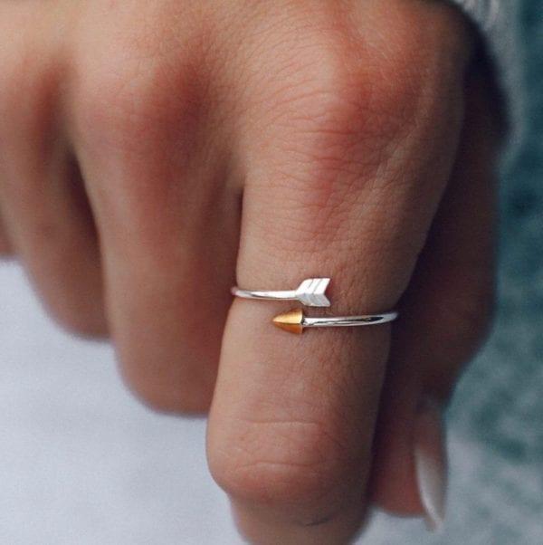 close up arrow ring